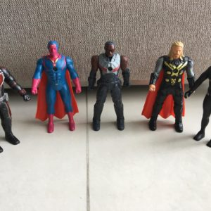 set 5 marvel avengers