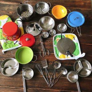 bộ đồ chơi nấu ăn inox 33 món