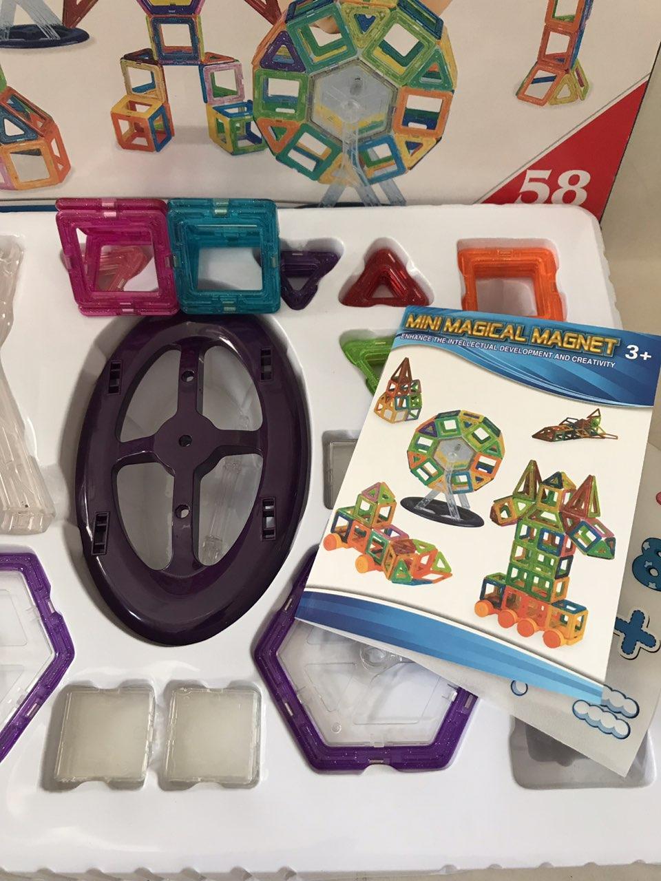 Bộ ghép hình nam châm 58 chi tiết Mini Magical Magnet | Babyponyshop | Đồ  Chơi An Toàn Cho Bé