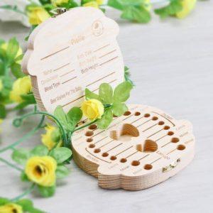 Hộp gỗ đựng răng sữa