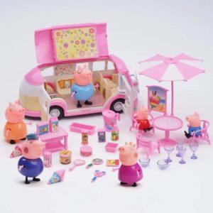 Xe đồ ăn của gia đình heo peppa pig