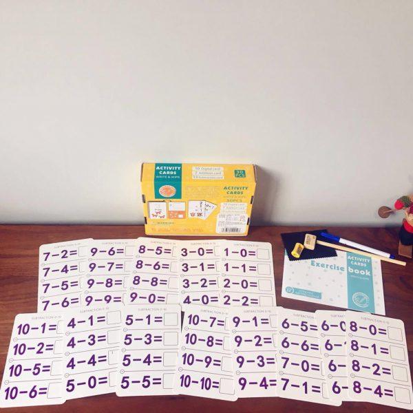 bộ thẻ flashcard học tiếng anh và toán