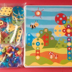 Bộ đồ chơi phối hợp ghép hình và lắp ốc vít