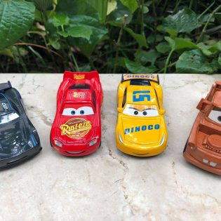 bộ đồ chơi 4 xe cars mcqueen kim loại metal