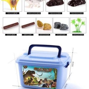 Hộp đồ chơi khủng long đủ loại và phụ kiện