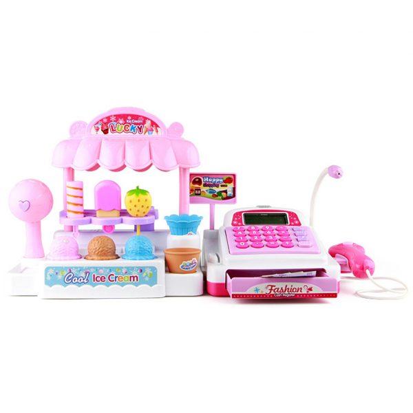 bộ đồ chơi quầy bán kem và máy tính tiền