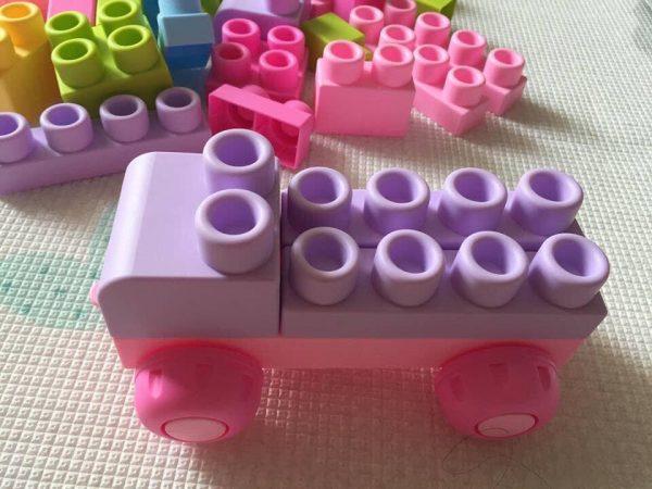 Bộ xếp hình lắp ghép lego dẻo cho bé