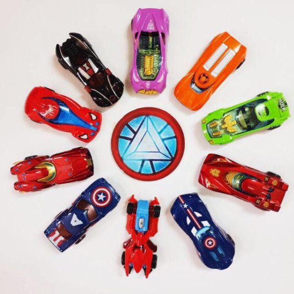 Bộ 10 xe bánh đà siêu anh hùng