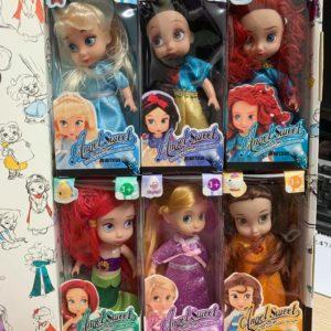 Hộp 6 công chúa búp bê disney