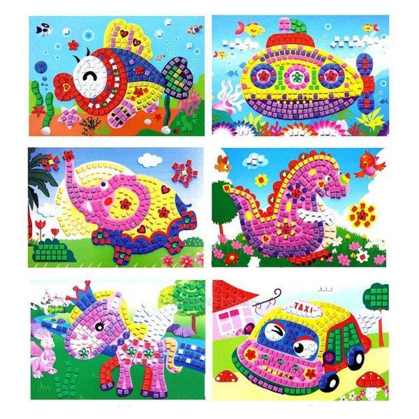 Sticker Mosaics - tranh dán sắc màu