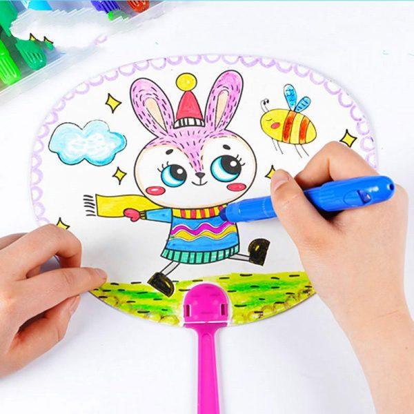 Bộ đồ chơi bé tự làm quạt sắc màu