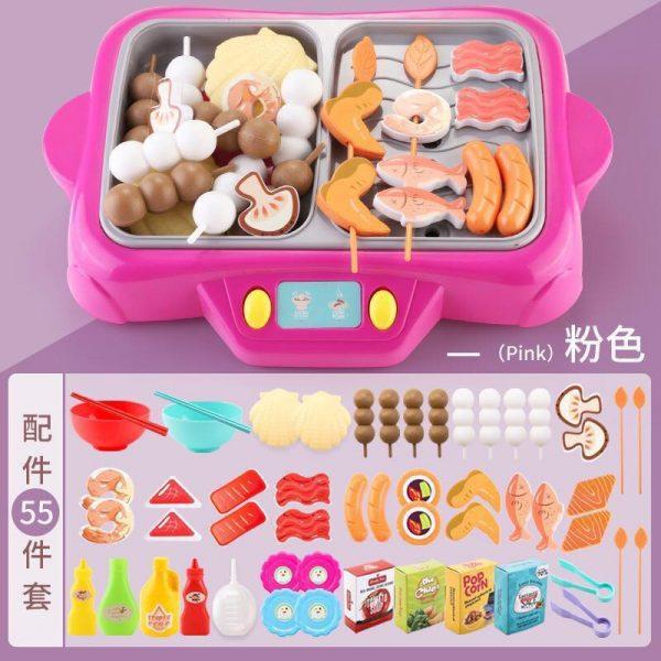 Bộ đồ chơi nấu lẩu và nướng 55 chi tiết