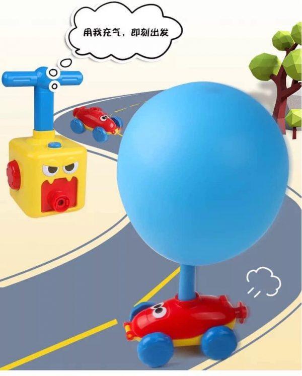 Bộ xe hơi ô tô chạy bằng bóng bay