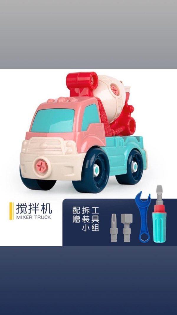 Bộ đồ chơi 4 xe công trình lắp ghép sáng tạo