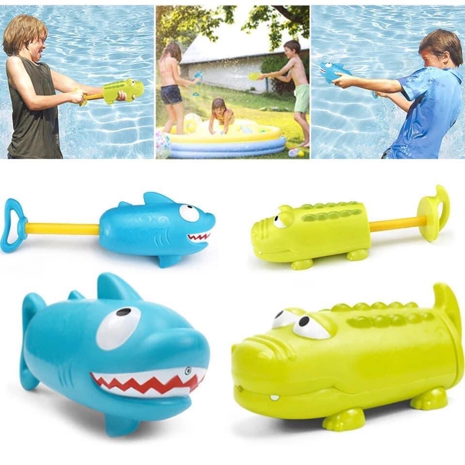 Súng bắn nước cực cute vui vẻ ngộ nghỉnh hình cá mập hoặc cá sấu