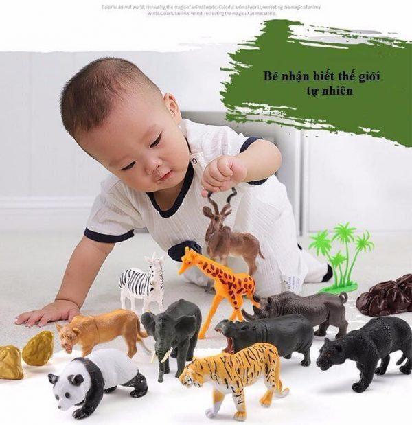 Bộ sưu tập mô hình động vật 58 chi tiết gồm 43 con vật và 15 phụ kiện