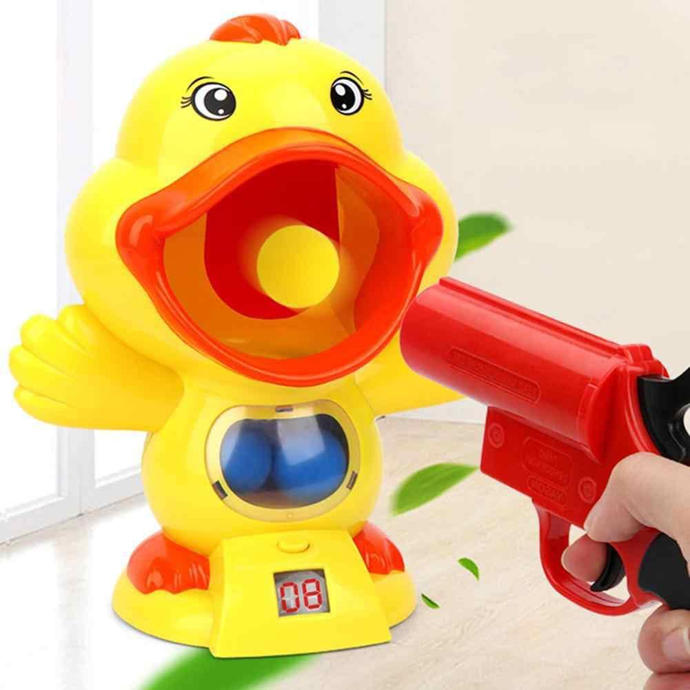 Bộ đồ chơi súng bắn vịt vàng bằng đạt mút sốp mềm an toàn thú vị mẫu 2 súng dài