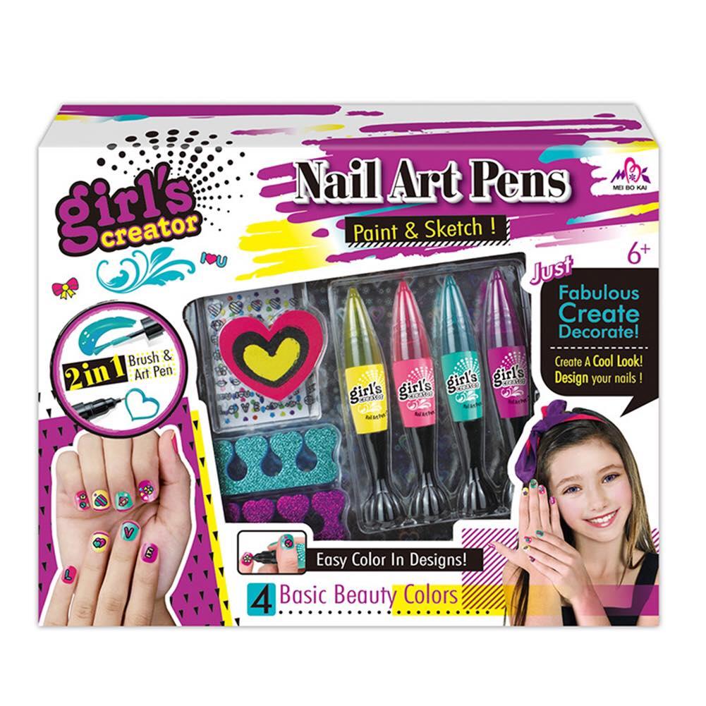 Set nail nghệ thuật và sticker dán móng tay cho bé
