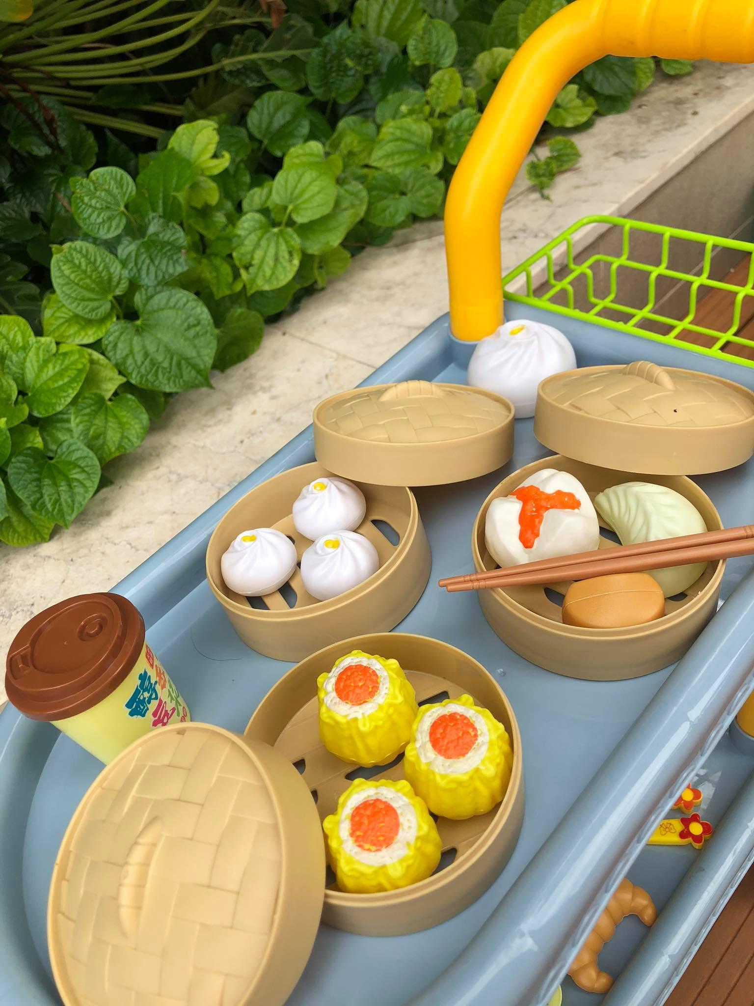 Bộ đồ chơi xe đẩy bán thức ăn 2 tầng siêu cute