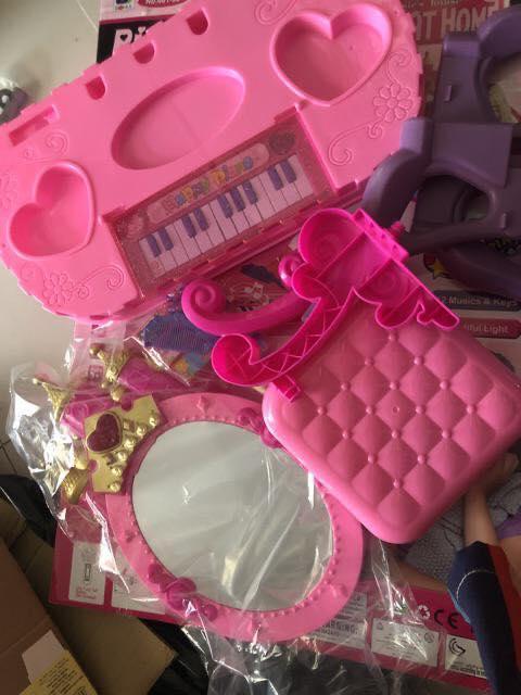 Bộ đồ chơi bàn trang điểm và đàn piano 2 trong 1 cho bé yêu