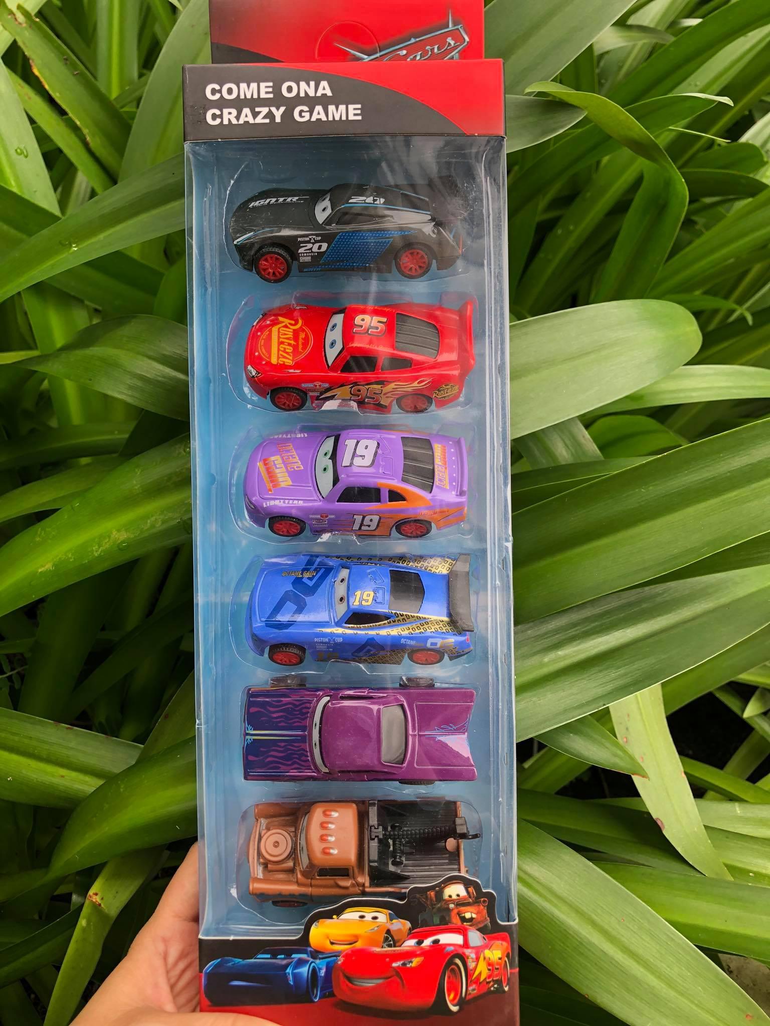 Hộp 6 chiếc xe cars McQueen bằng kim loại metal