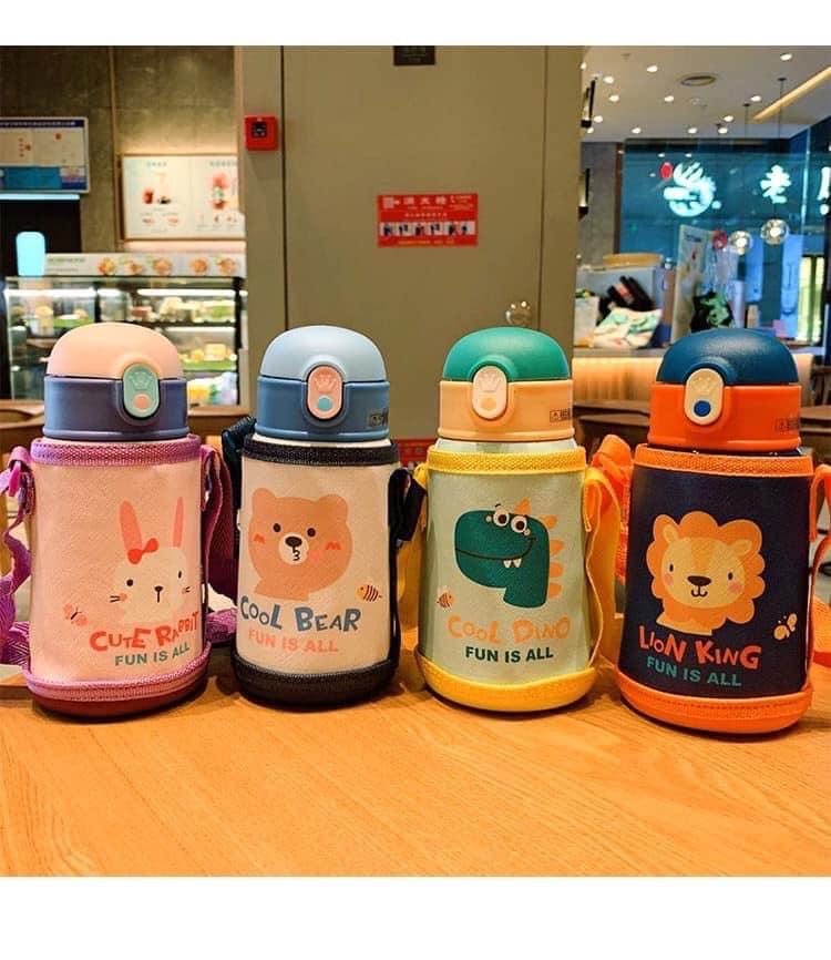 Bình nước giữ nhiệt Cool Bear cho bé   Babyponyshop   Đồ Chơi An Toàn Cho Bé