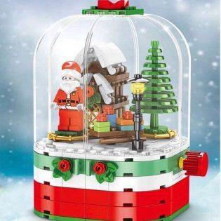 Bộ xếp hình Building blocks Santa có thể xoay, có đèn led sáng