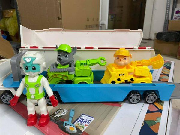Bộ mô hình Xe chở đội chó cứu hộ size to