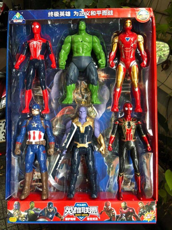 Bộ Sưu Tập 6 Siêu Anh Hùng Avengers Size Siêu To Có Âm Thanh