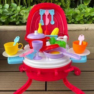 Bộ đồ chơi vali quầy bếp mini