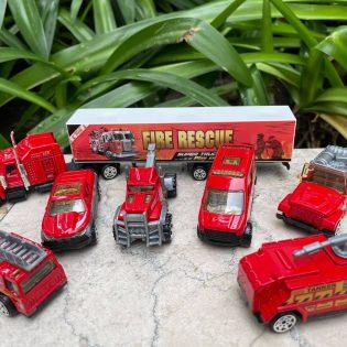 Bộ đồ chơi mô hình 7 xe cứu hoả tỉ lệ 1 phần 64