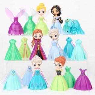 Bộ đồ chơi 6 búp bê công chúa thay váy cực cool