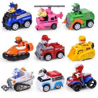 Hộp đồ chơi 9 xe bánh đà Paw Patrol chó cứu hộ
