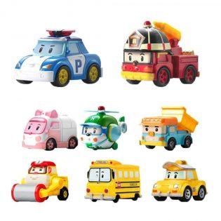Hộp đồ chơi 12 xe poli chạy trớn