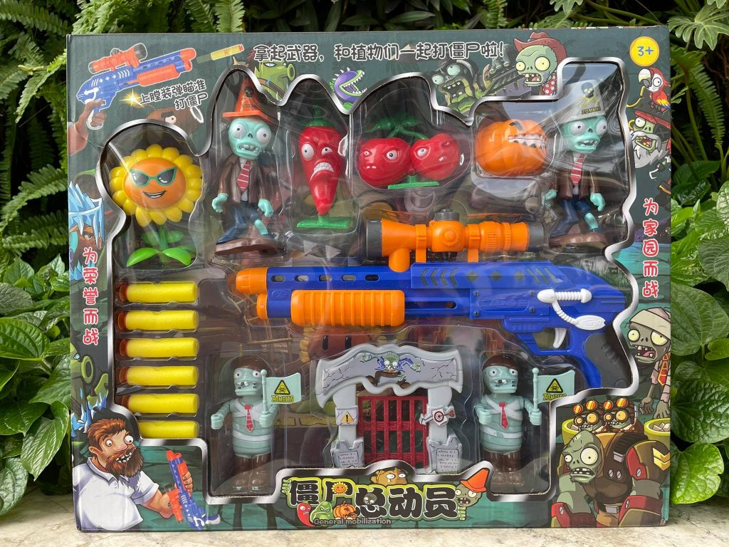 Bộ Mô Hình Đồ Chơi Súng Bắn Zombie Mô Phỏng Game Plant Vs Zombie Mẫu 5