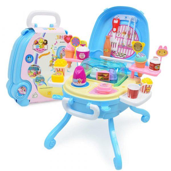 Bộ đồ chơi vali quầy mini cho bé