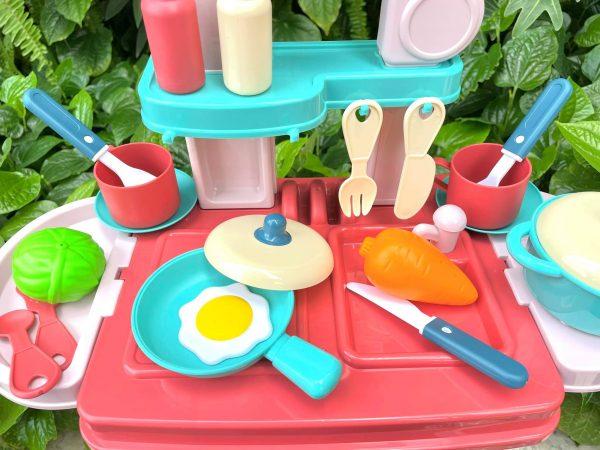Hộp đồ chơi quầy bếp và quầy trang điểm mini cho bé
