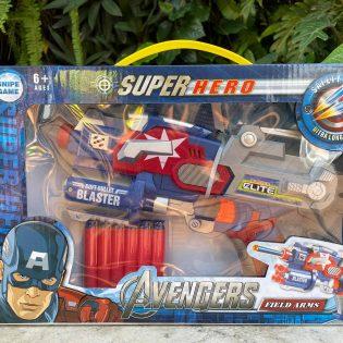 Súng siêu anh hùng Avengers đạn Nerf xốp mềm