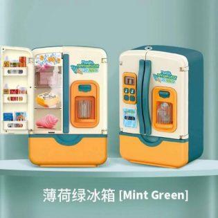 Mô hình tủ lạnh đồ chơi 2 cửa có hiệu ứng khói lạnh