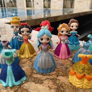 Bộ 6 công chúa thay váy size to
