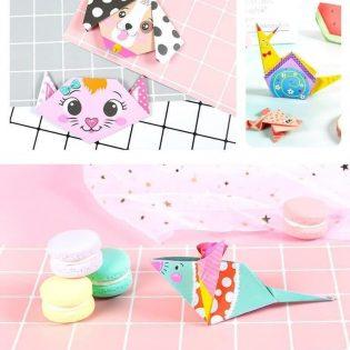 Bộ đồ chơi thủ công gấp giấy nghệ thuật Origami Nhật Bản