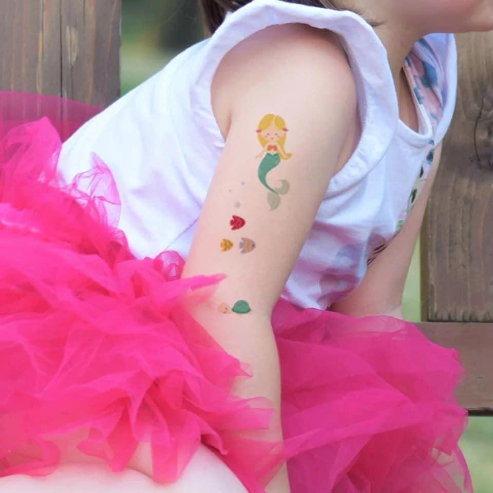 Set 10 tấm hình xăm (100 hình) tatto siêu cute cho bé