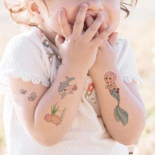 Set 10 tấm hình xâm Tattoo cho bé
