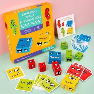 Bộ đồ chơi xếp hình biểu cảm gương mặt